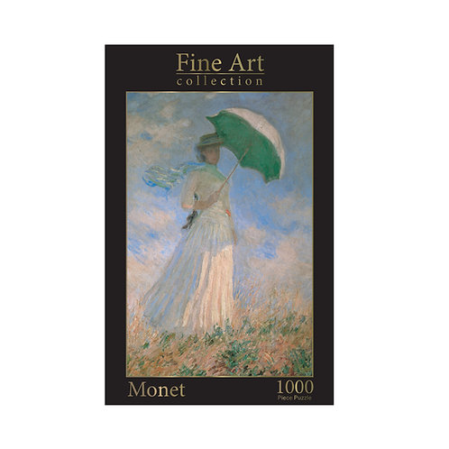 1000 Piece Jigsaw - Monet: Woman with Parasol Facing Right