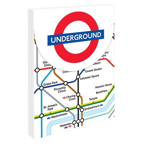 Mini Notepad - London Underground