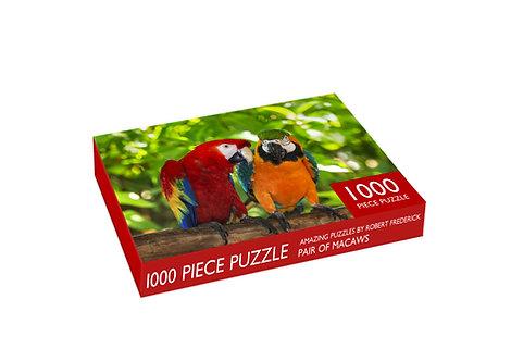 1000 Piece Jigsaw - Pair of Macaws