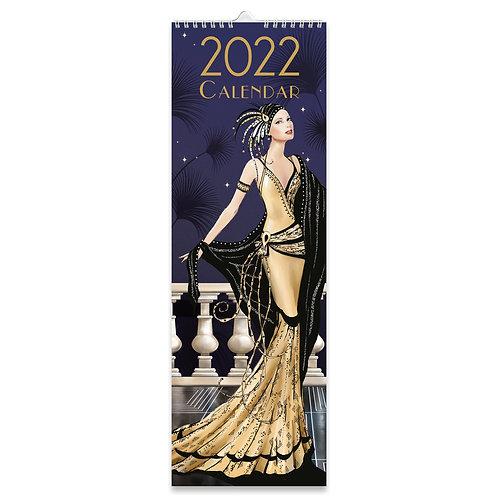 2022 Slim Calendar - Claire Coxon Art Deco