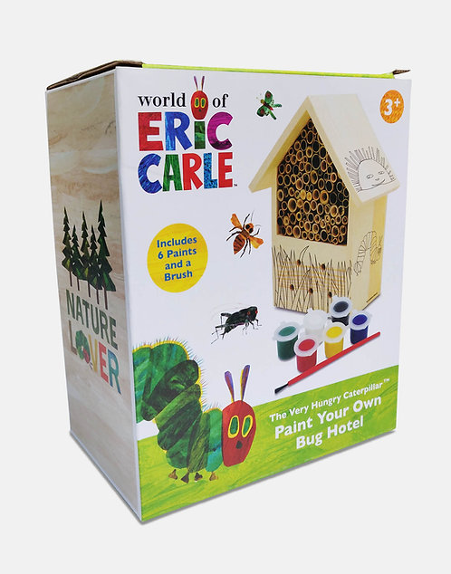 Paint Your Own Bug Hotel - Very Hungry Caterpillar