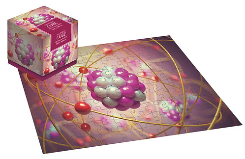Science Atom - 100 Piece Jigsaw Puzzle Cube