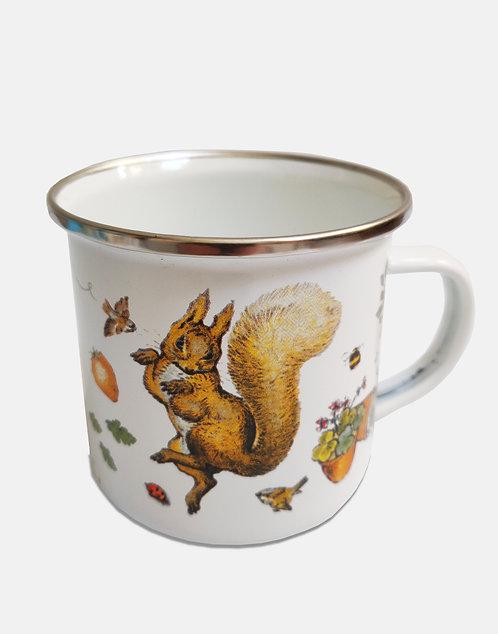 Beatrix Potter's Squirrel Nutkin Enamel Mug
