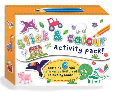 Mini Sticker Activity Set - Stick & Colour