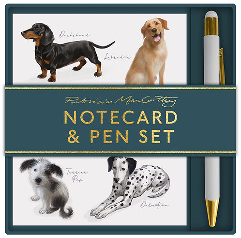 Patricia MacCarthy Dogs Notecard & Pen Set