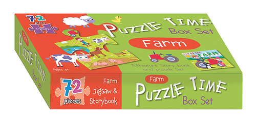 Jigsaw & Book Set - Farm