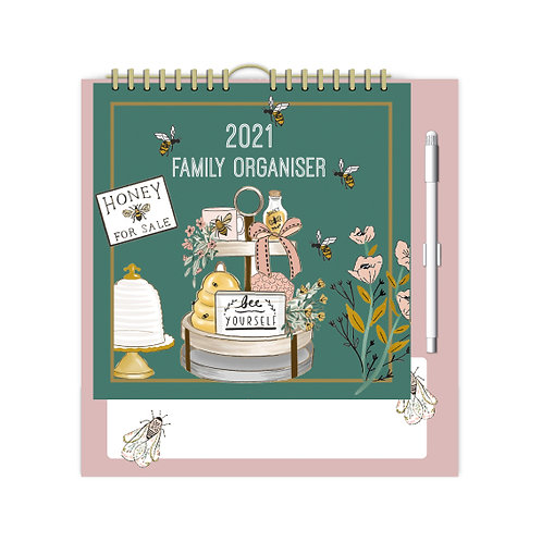 2021 Beekeeper Family Organiser Calendar