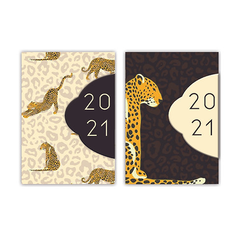 2021 Wild Cats Mini Diary with Magnetic Closure