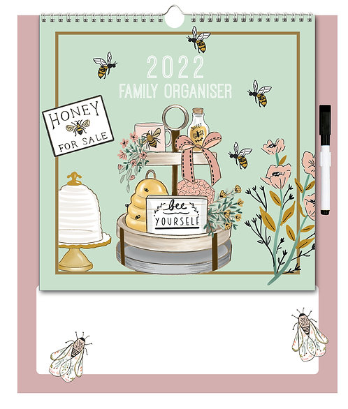 2022 Family Organiser Calendar - Beekeeper