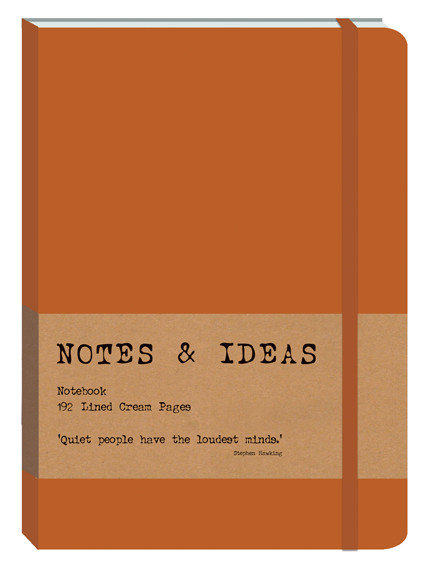 RK Notes & Ideas Journal - Bright Orange