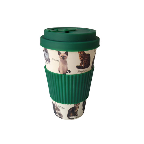 Patricia MacCarthy Cats - Bamboo Coffee Cup