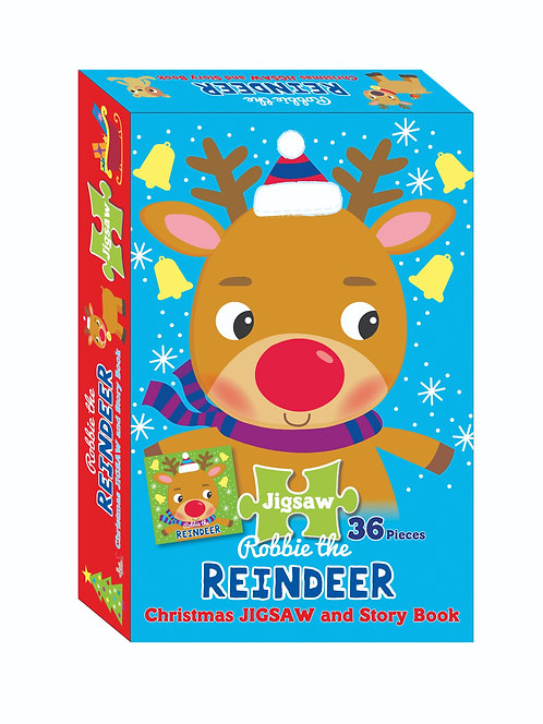 Jigsaw & Book Set - Reindeer