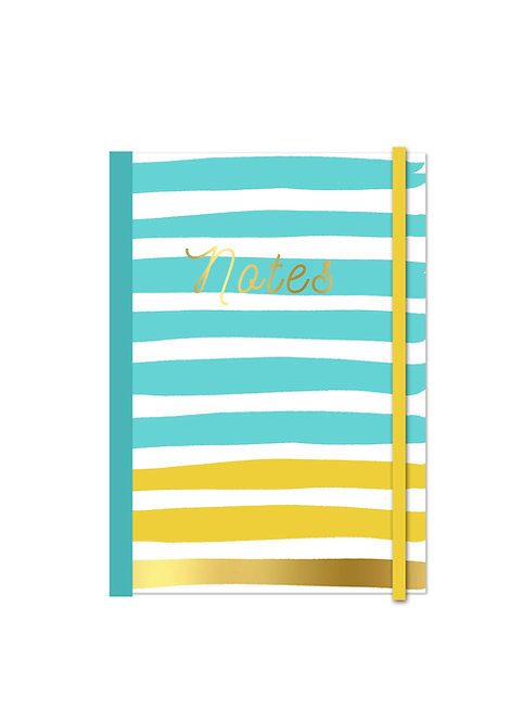 A5 Soft Cover Notebook - Turquoise Gold