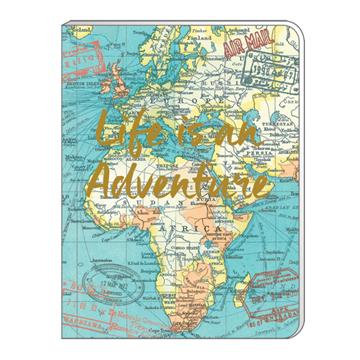 A6 Soft Cover Notebook - Vintage Map 'Life Is An Adventure'