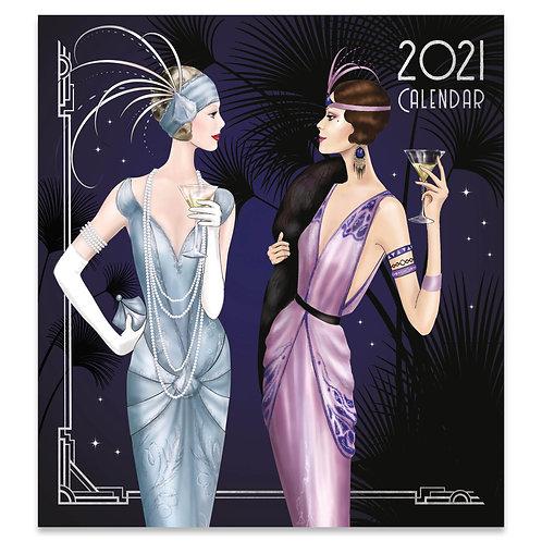 2021 Art Deco Large Square Wall Calendar