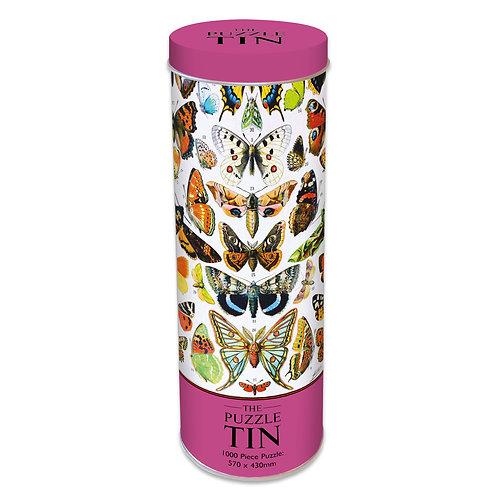 1000 Piece Jigsaw in a Tin - Butterflies