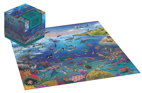 Sea Life - 100 Piece Jigsaw Puzzle Cube