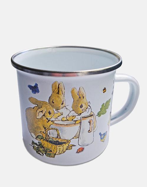 Beatrix Potter's Flopsy Bunnies Enamel Mug