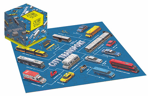 City Transport - 100 Piece Jigsaw Puzzle Cube
