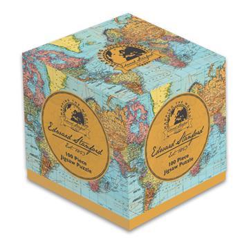 Edward Stanford World Map - 100 Piece Jigsaw Puzzle Cube
