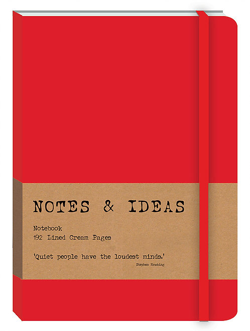 RK Notes & Ideas Journal - Bright Red