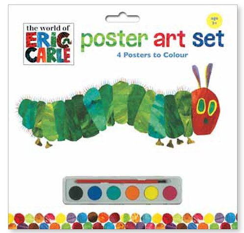 The Very Hungry Caterpillar Poster Art Set Caterpillar & Butterfly - Eric Carle