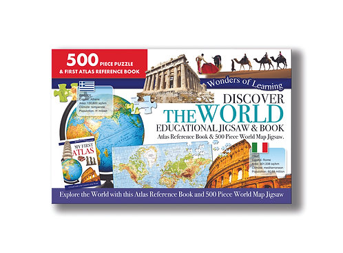 Discover the World Jigsaw& Book Set