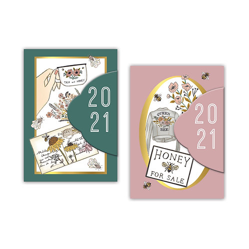 2021 Beekeeper Mini Diary with Magnetic Closure