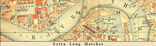 Map of London - Extra Long Matches