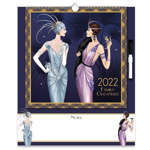 2022 Family Organiser Calendar - Claire Coxon Art Deco