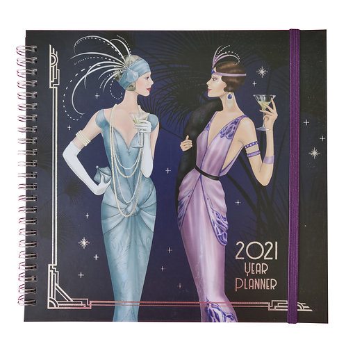 2021 Art Deco Month to View Year Planner