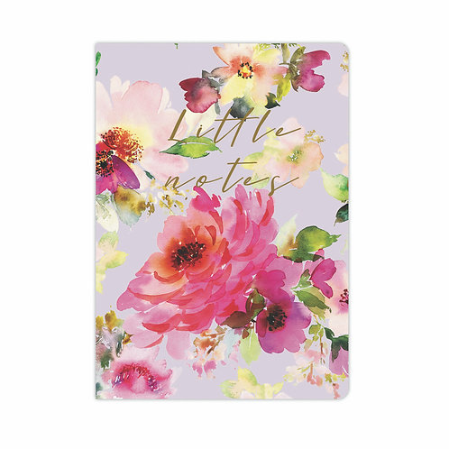 A6 Soft Cover Notebook - Lilac Bloom 'Little Notes'