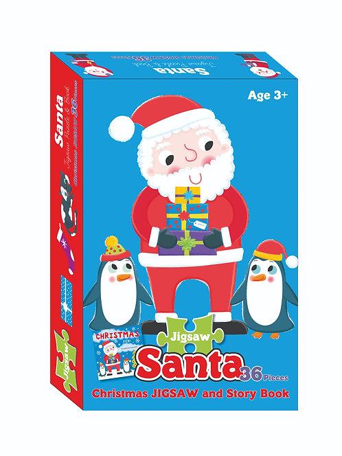 Jigsaw & Book Set - Santa