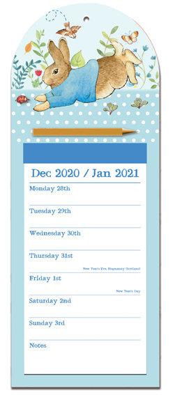 2021 Peter Rabbit Magnetic Fridge Calendar Pad & Pencil