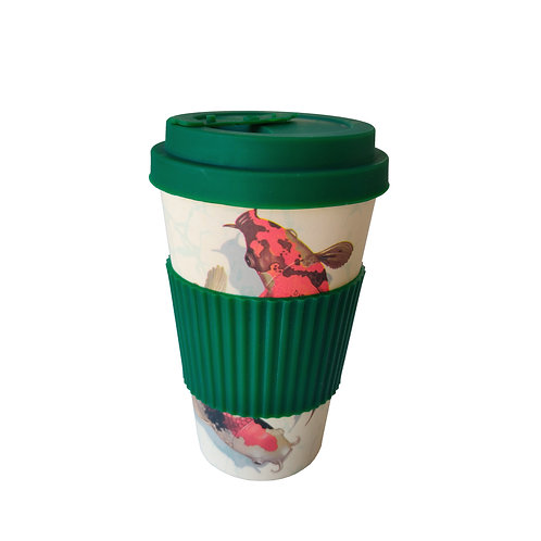 Koi Carp Orange - Bamboo Coffee Cup