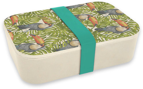 Jungle Toucans - Bamboo Lunch Box