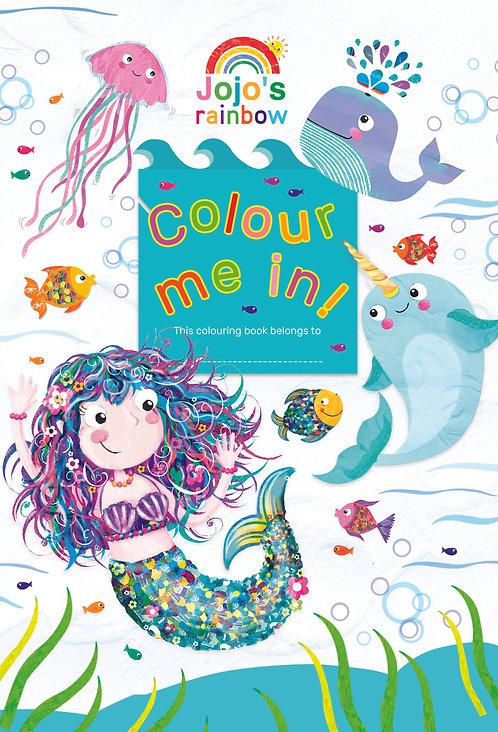 Jumbo Colouring Book - Jojo Rainbow Mermaid