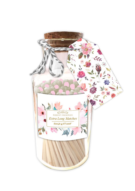 Marvellous Floral Matches - Extra Long Matches in Glass Jar