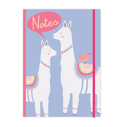 Llama Adventures - A4 Notebook