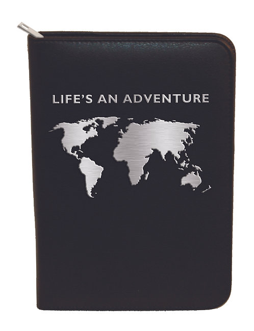Zip Portfolio Notepad - Life's An Adventure