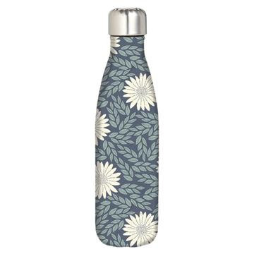 Water Bottle - Navy Daisy