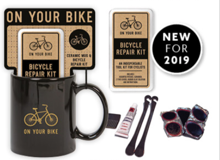 Mug and Bicycle Repair Gift Set