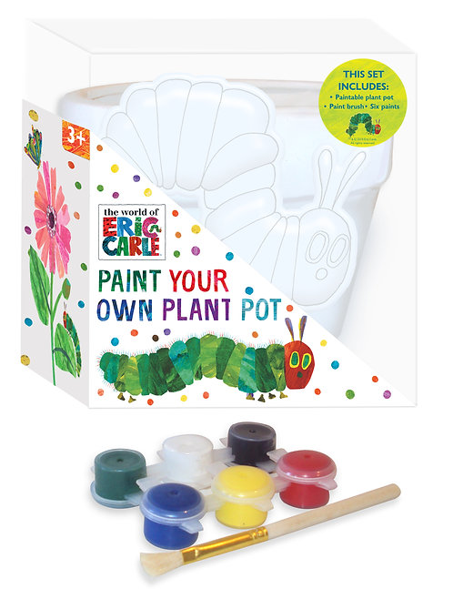 Paint Your Own Plant Pot - Eric Carle Hungry Caterpillar