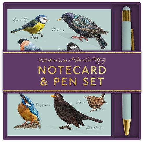 Patricia MacCarthy Birds Notecard & Pen Set