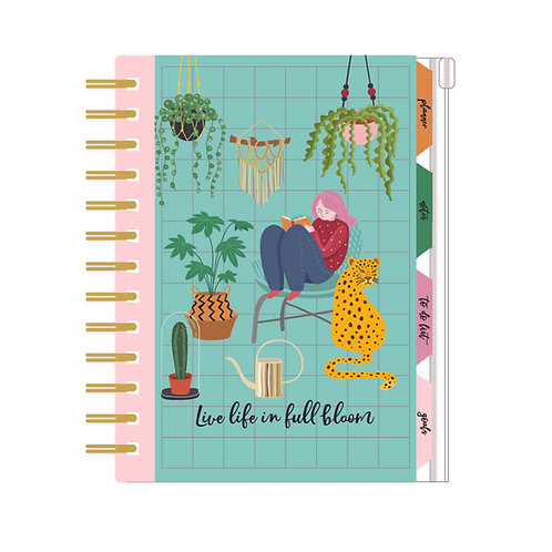 Organiser, Planner, Notes, To Do List, Addresses - Urban Jungle 'Full Bloom'