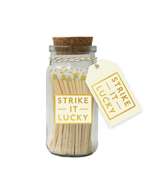 Strike It Lucky - Yellow & White Tipped Matches