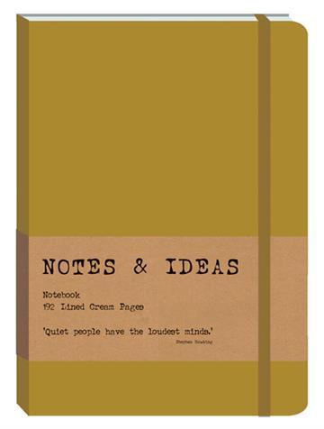 RK Notes & Ideas Journal - Gold