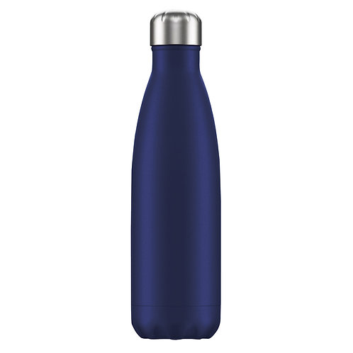 Large 1 Litre Water Bottle - Navy Blue