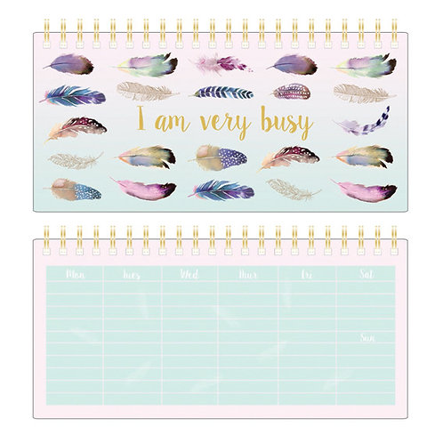 Weekly Planner - Pizazz Feathers