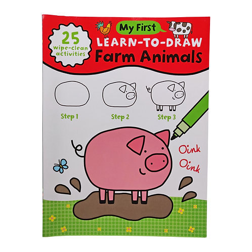 Learn to Draw Farm Animals - Wipe Clean Book